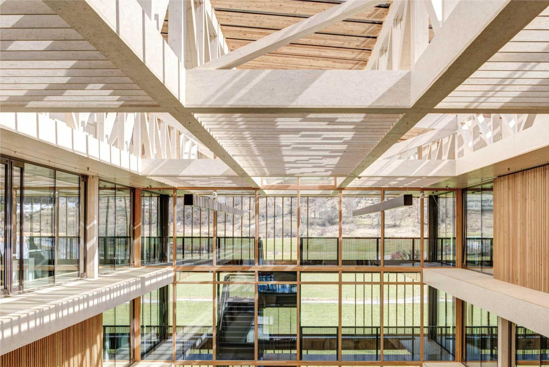 Holzrahmenbau-Foyer